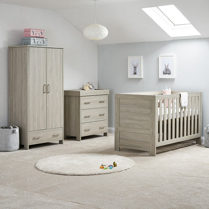 Nika 3 Piece Room Set - Grey Wash