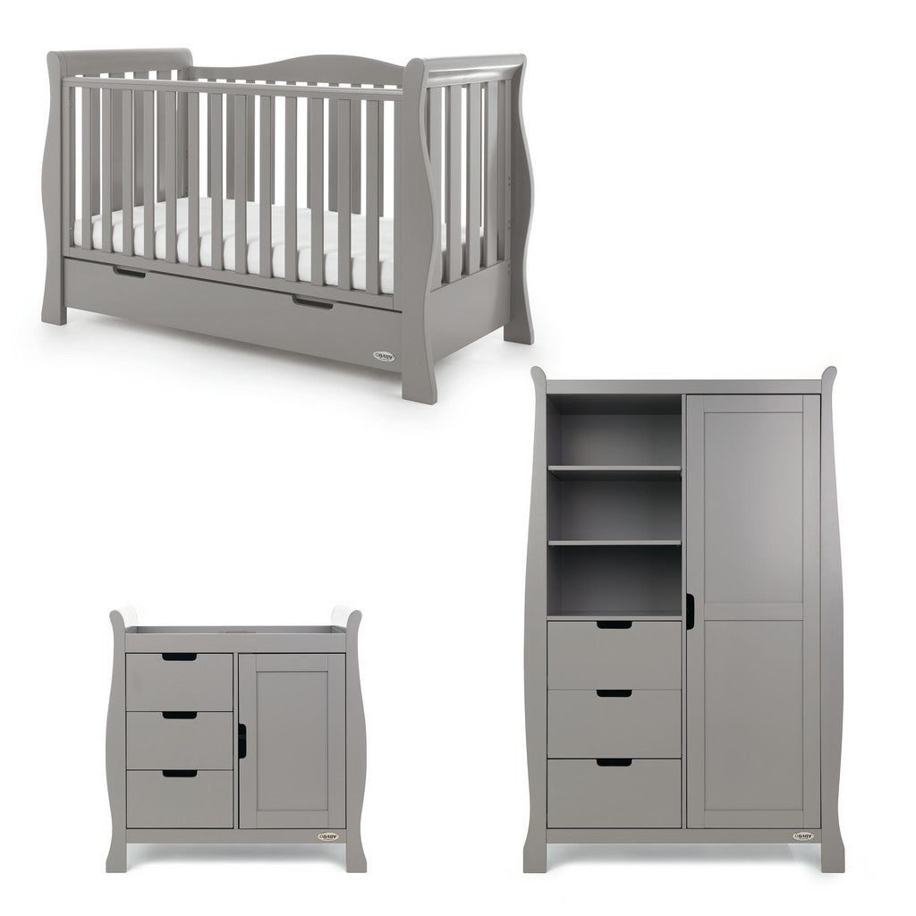 Stamford Luxe 3 Piece Room Set - Taupe Grey