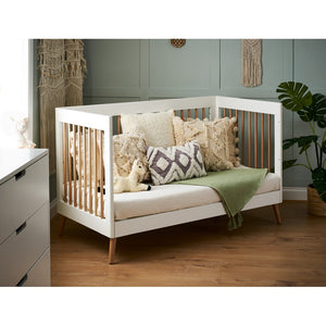 Obaby Maya Cot Bed - White/Natural