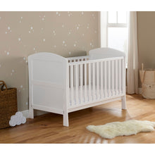 Load image into Gallery viewer, Babymore Aston Drop Side Cot Bed - White