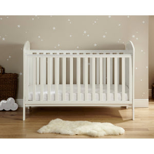 Babymore Aston Drop Side Cot Bed - White