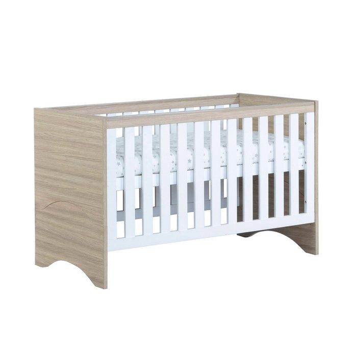 Babymore Veni Cot Bed - White Oak