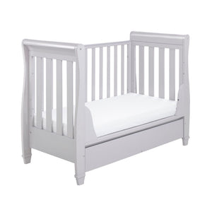 Babymore Eva Drop Side Sleigh Cot Bed - Grey