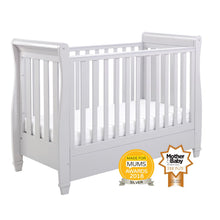 Load image into Gallery viewer, Babymore Eva Drop Side Sleigh Cot Bed - Grey