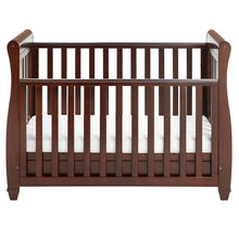 Load image into Gallery viewer, Babymore Eva Drop Side Sleigh Cot Bed - Brown