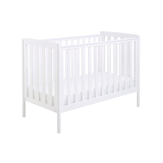 Babymore Ellie Drop Side Cot Bed - White