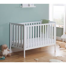 Load image into Gallery viewer, Babymore Ellie Drop Side Cot Bed - White