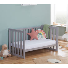 Load image into Gallery viewer, Babymore Ellie Drop Side Cot Bed - Grey