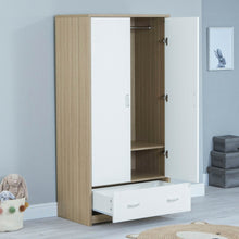Load image into Gallery viewer, Babymore Luno Veni Wardrobe - Oak White