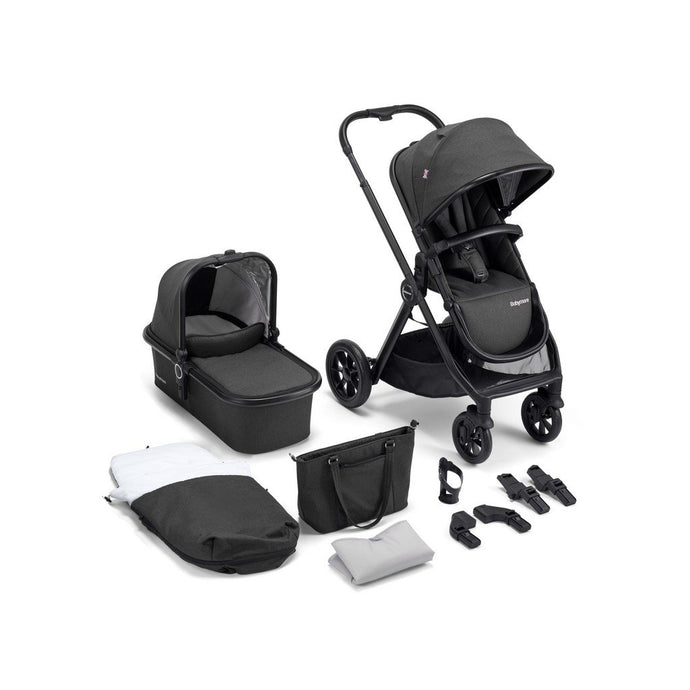 MeMore Pram & Pushchair 11 Piece - Black Espresso
