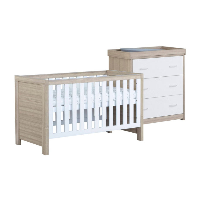 Babymore Luno Room Set 2 Pieces - Oak White