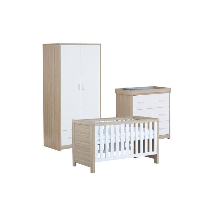 Babymore Luno Room Set 3 Pieces - Oak White