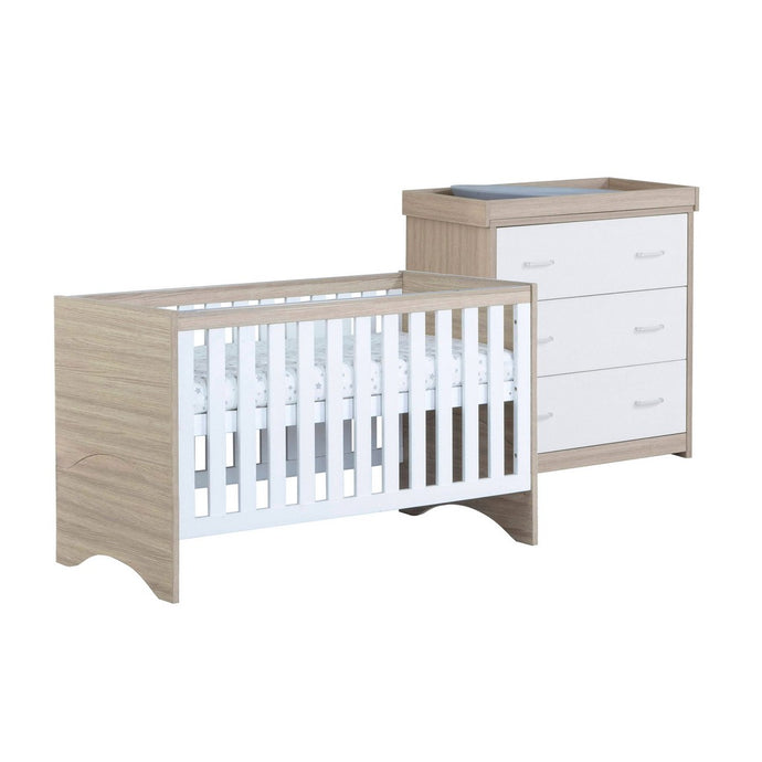 Babymore Veni Room Set 2 Pieces - Oak White