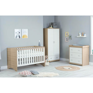 Babymore Veni Room Set 3 Pieces - Oak White