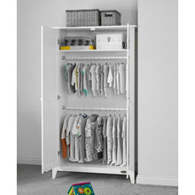 Load image into Gallery viewer, Obaby Belton Double Wardrobe - White