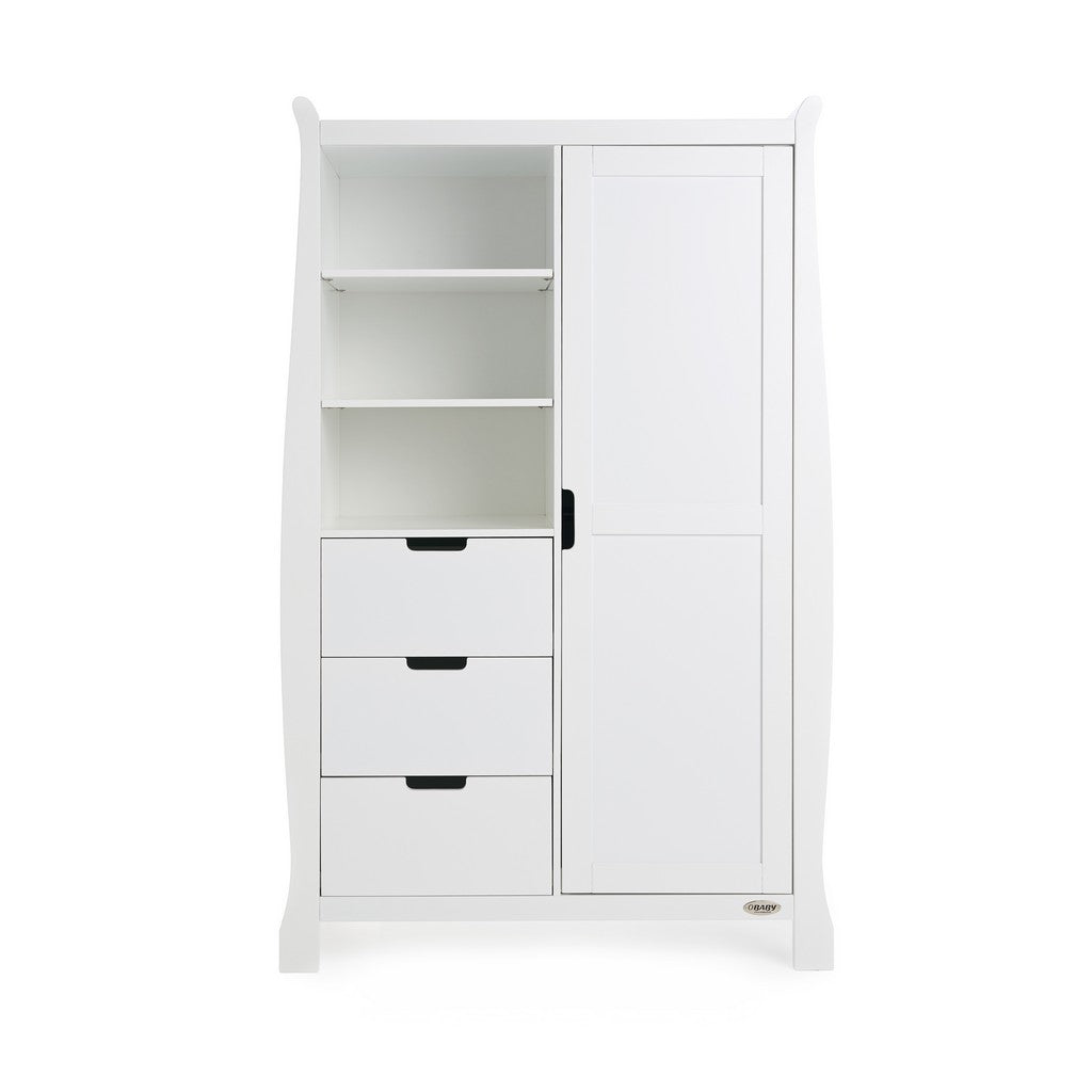 Stamford Double Wardrobe - White