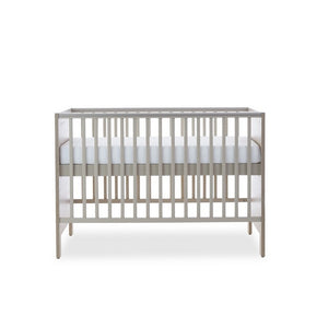 Ickle Bubba Grantham Mini Cot Bed - Grey Oak