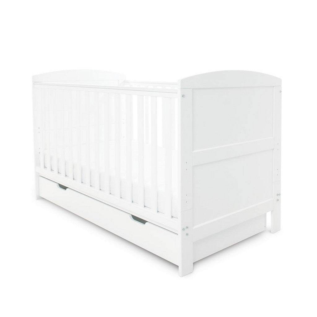 Ickle Bubba Coleby Classic Cot Bed & Under Drawer - White