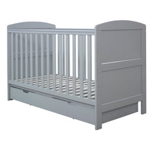Load image into Gallery viewer, Ickle Bubba Coleby Classic Cot Bed & Under Drawer - Grey