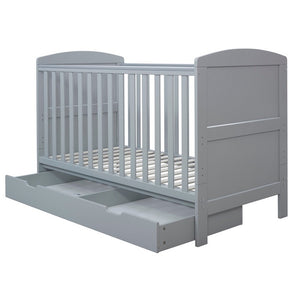 Ickle Bubba Coleby Classic Cot Bed & Under Drawer - Grey
