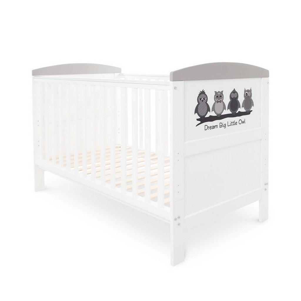 Ickle Bubba Coleby Style Cot Bed - Dream Big Little Owl