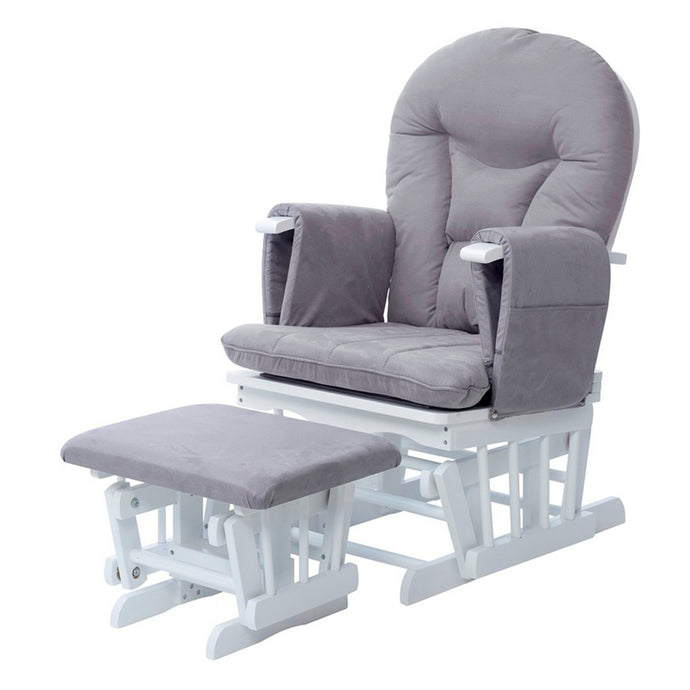 Ickle Bubba Alford Glider Chair and Stool - Pearl Grey
