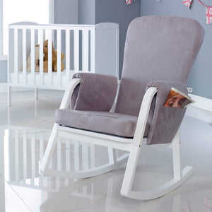 Ickle Bubba Dursley Rocking Chair - Pearl Grey