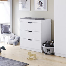 Load image into Gallery viewer, Ickle Bubba Coleby Changing Unit / Chest - White