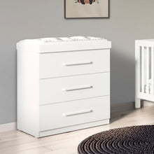 Load image into Gallery viewer, Ickle Bubba Grantham Chest of Drawers / Changer - Brushed White