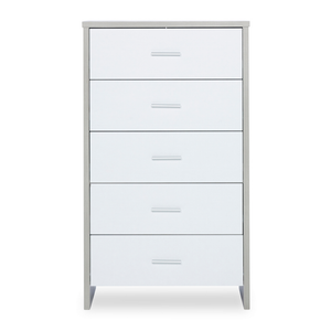 Ickle Bubba Pembrey Tall Chest - Ash Grey/White