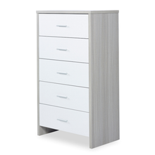 Load image into Gallery viewer, Ickle Bubba Pembrey Tall Chest - Ash Grey/White