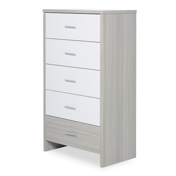 Ickle Bubba Pembrey Tall Chest - Ash Grey/White Trend