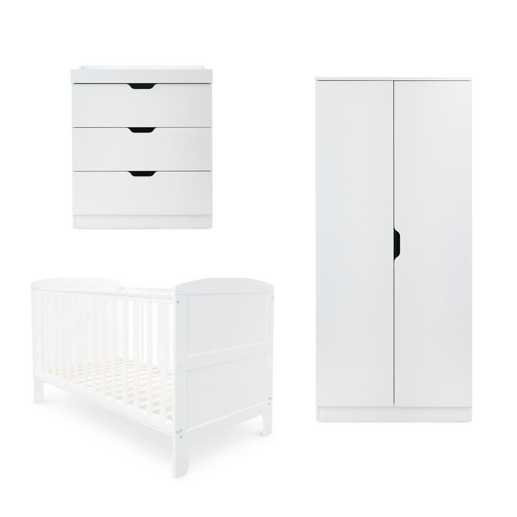 Ickle Bubba Coleby Classic 3 Piece Furniture Set - White