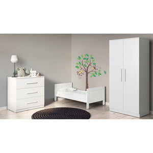 Ickle Bubba Grantham 3 Piece Furniture Set - Brushed White
