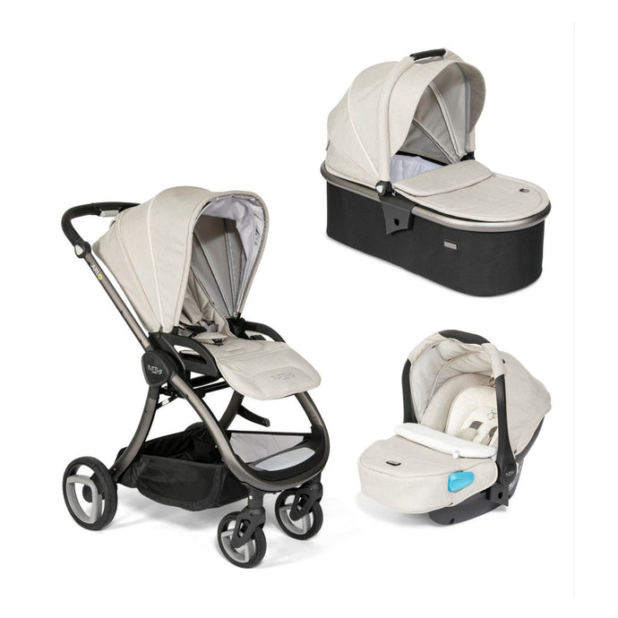 Arlo Charcoal 3 in 1 Travel System - Oatmeal