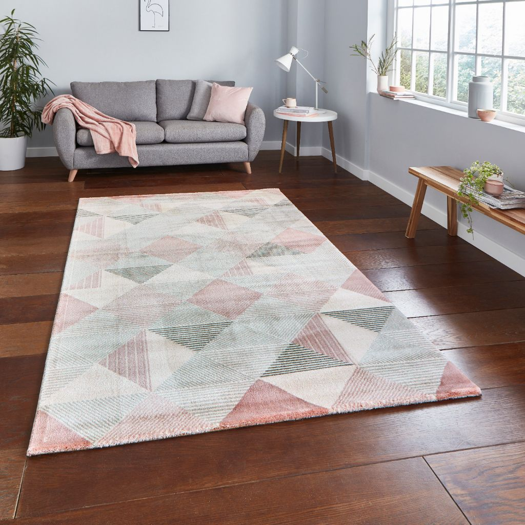 Think Rugs Aurora 53514 - Grey/Rose