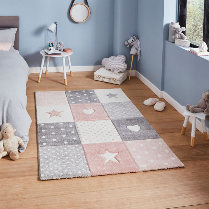 Think Rugs Brooklyn Kids 20339 - Pink