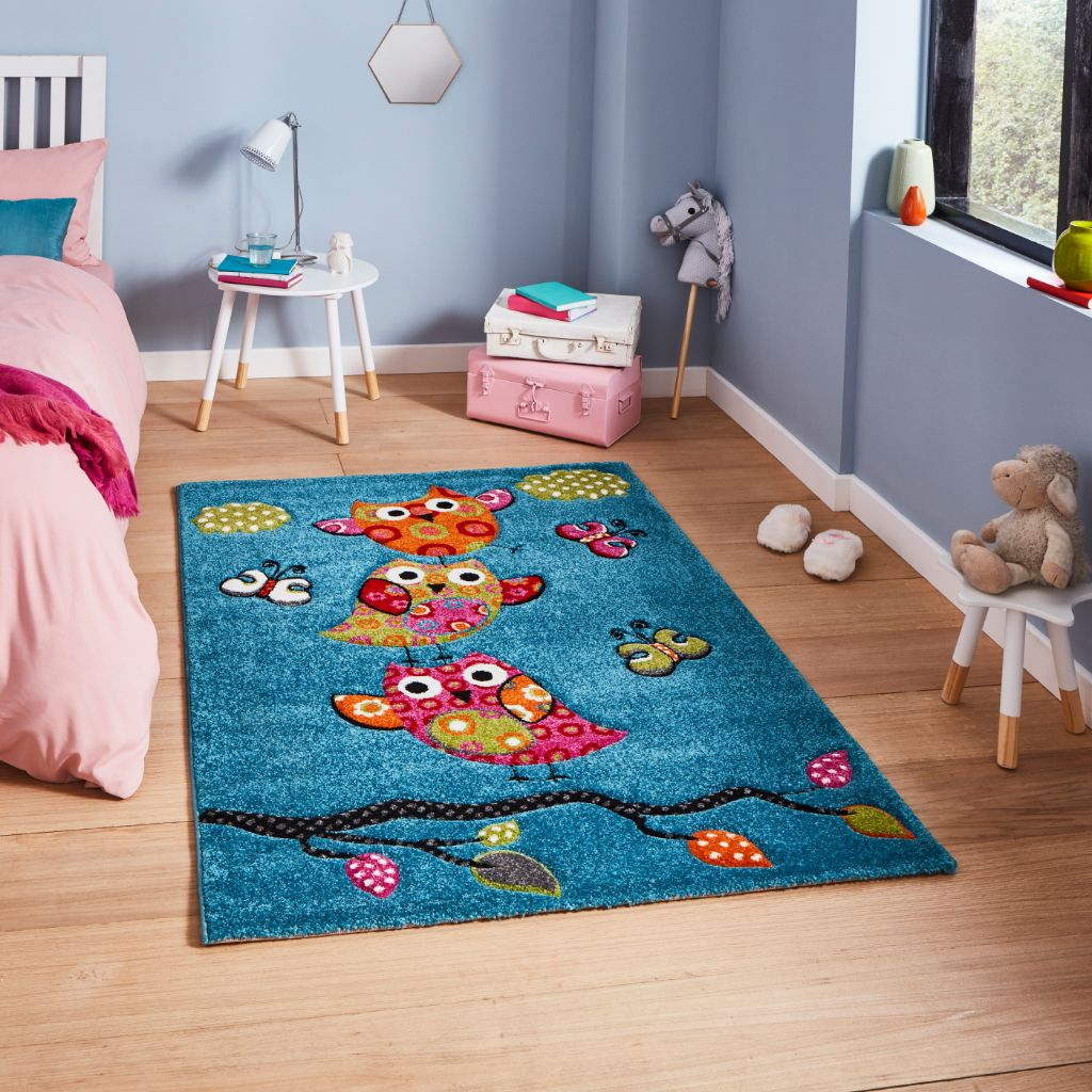 Think Rugs Brooklyn Kids 793 -  Blue