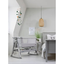 Load image into Gallery viewer, Tutti Bambini Cozee Air Bedside Crib - Space Grey & Slate