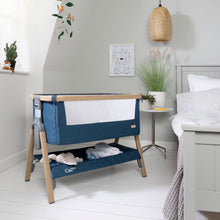 Load image into Gallery viewer, Tutti Bambini Cozee Bedside Crib - Oak & Midnight