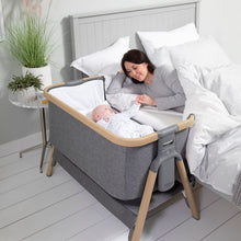 Load image into Gallery viewer, Tutti Bambini Cozee Bedside Crib - Oak & Charcoal