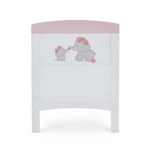 Obaby Grace Inspire Cot Bed - Me & Mini Me Elephants Pink