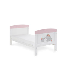 Load image into Gallery viewer, Obaby Grace Inspire Cot Bed - Me & Mini Me Elephants Pink