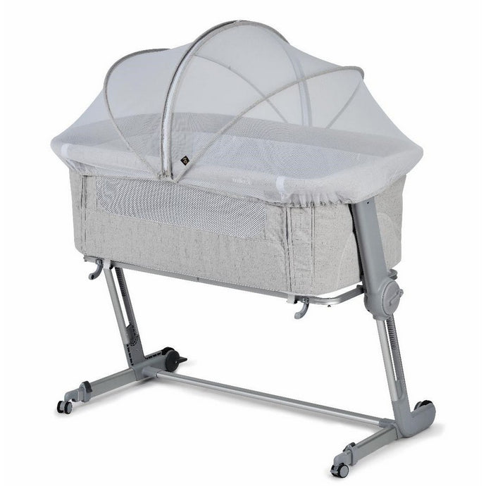 Hug Me Plus Bedside Crib - Shadow Grey (incl. Insect Net)
