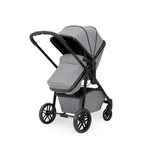 Load image into Gallery viewer, Ickle Bubba Moon Travel System With Galaxy Car Seat & Isofix Base - Black Chassis