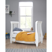 Load image into Gallery viewer, Tutti Bambini Katie Space Saver Sleigh Cot Bed - White
