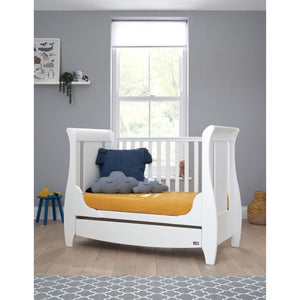 Tutti Bambini Katie Space Saver Sleigh Cot Bed - White