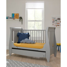 Load image into Gallery viewer, Tutti Bambini Lucas Sleigh 3 in 1 Cot Bed - Cool Grey