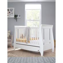 Load image into Gallery viewer, Tutti Bambini Lucas Sleigh 3 in 1 Cot Bed  - White