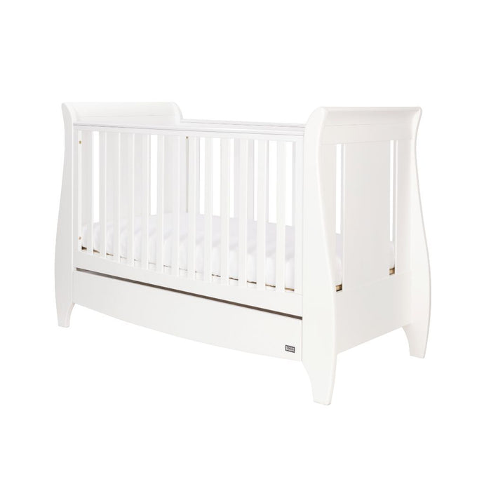 Tutti Bambini Lucas Sleigh 3 in 1 Cot Bed  - White